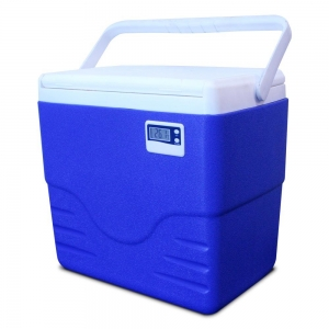 Caixa Térmica Azul c/ Termômetro Digital Alça Superior 15 Litros - Coleman