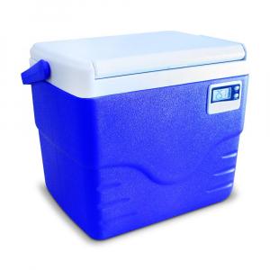 Caixa Térmica Azul c/ Termômetro Digital Alça Superior 8,5 Litros - Coleman