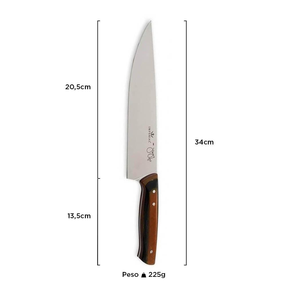 "Faca Chef Cabo Micarta 8"" - Imperial by Jimmy Ogro"