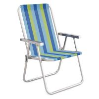 Cadeira de Praia Alumínio Alta Conforto - Mor
