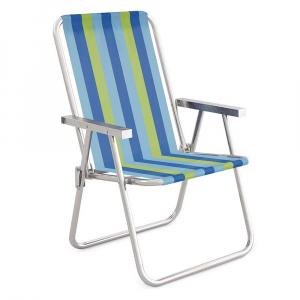 Cadeira de Praia Alumínio Alta +Conforto - Mor