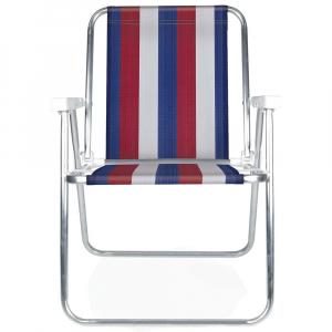 Cadeira de Praia Alumínio Alta (Estampa 2228) - Mor