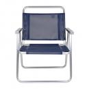 Cadeira Praia Alumínio Oversize Azul Marinho (suporta 140kg) - Mor
