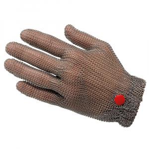 Luva Anticorte de Malha de Aço Inox com Elástico Wilco Tamanho G - Manulatex