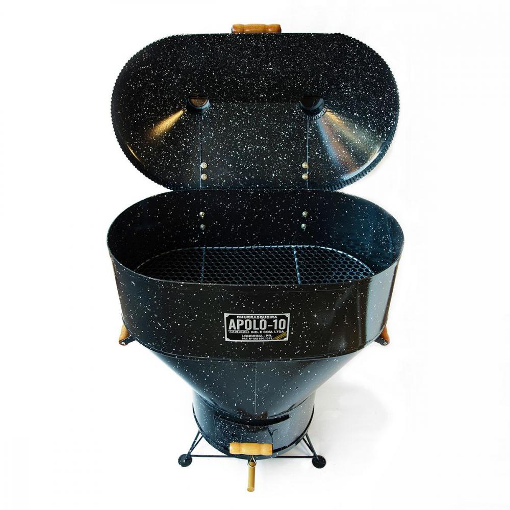 Churrasqueira Apolo 10 a bafo Esmaltada a Gás ou Carvão - Weber