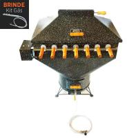 Churrasqueira Apolo Plus 7 Espetos Rotativos Esmaltada Gás ou Carvão - Weber