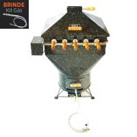 Churrasqueira Apolo Plus Mini 5 Espetos Rotativos Esmaltada Gás ou Carvão - Weber