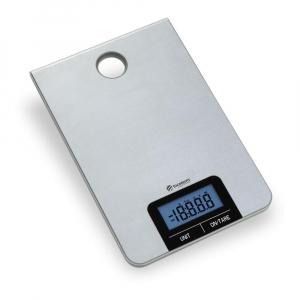 Balança de Cozinha Aço Inox Portátil Visor Digital 5 Kg - Incoterm