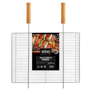 Grelha para Churrasqueira Borda Alta Cromada 40 x 30 cm  - Grilazer