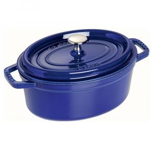 Caçarola Azul Marinho Oval Ferro Fundido 23 cm - Staub