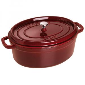 Caçarola Ferro Fundido Oval Vermelho Granada 23 cm - Staub