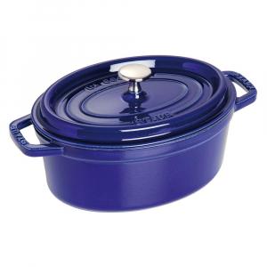 Cacarola Oval Ferro Fundido Azul Marinho 33 cm - Staub