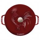 Caçarola Ferro Fundido Galo Francês Ø24 cm Vermelho Granada - Staub