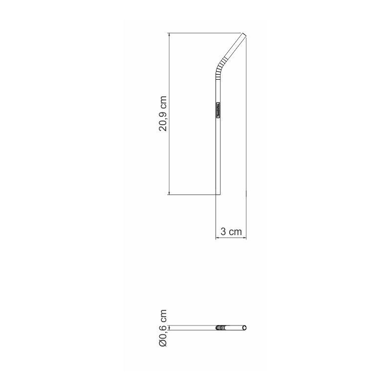 Canudo Aço Inox p/ Bebidas 21 cm - Tramontina