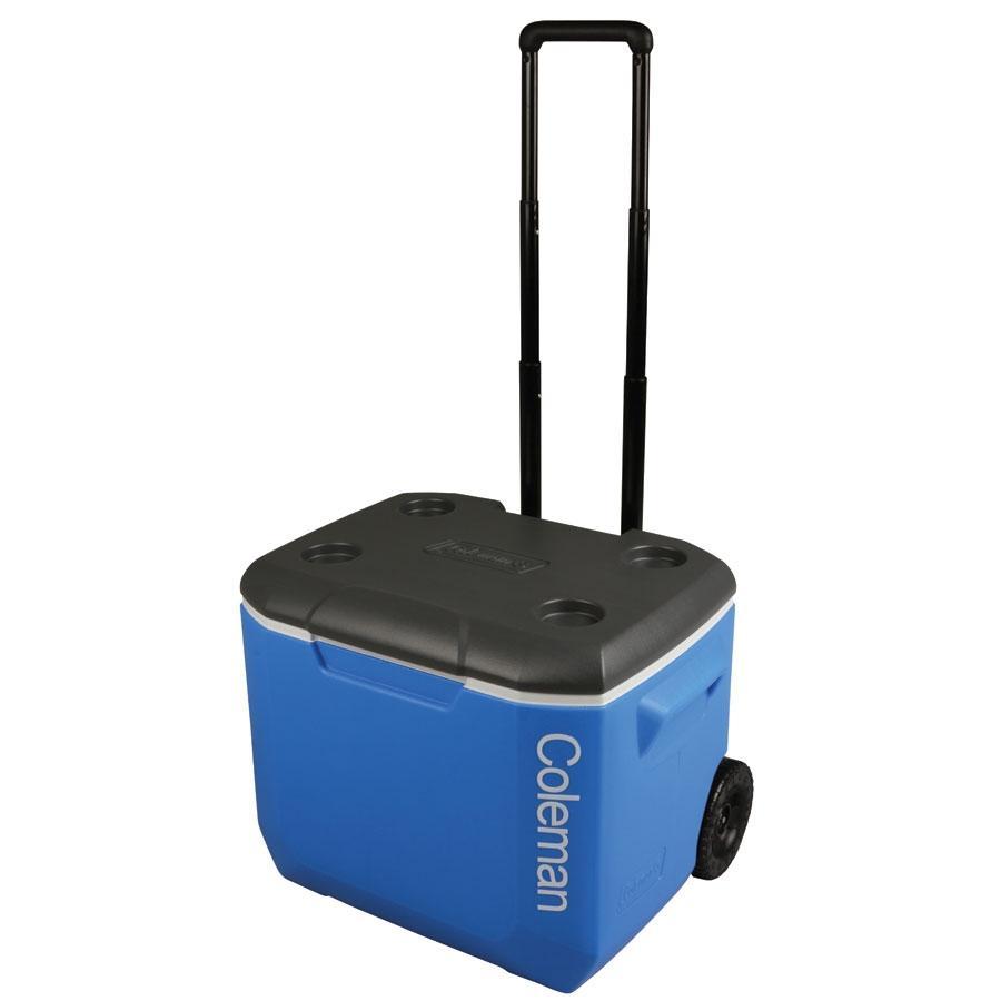 Coleman - Caixa Térmica Azul/Cinza c/ Rodas 57 Litros