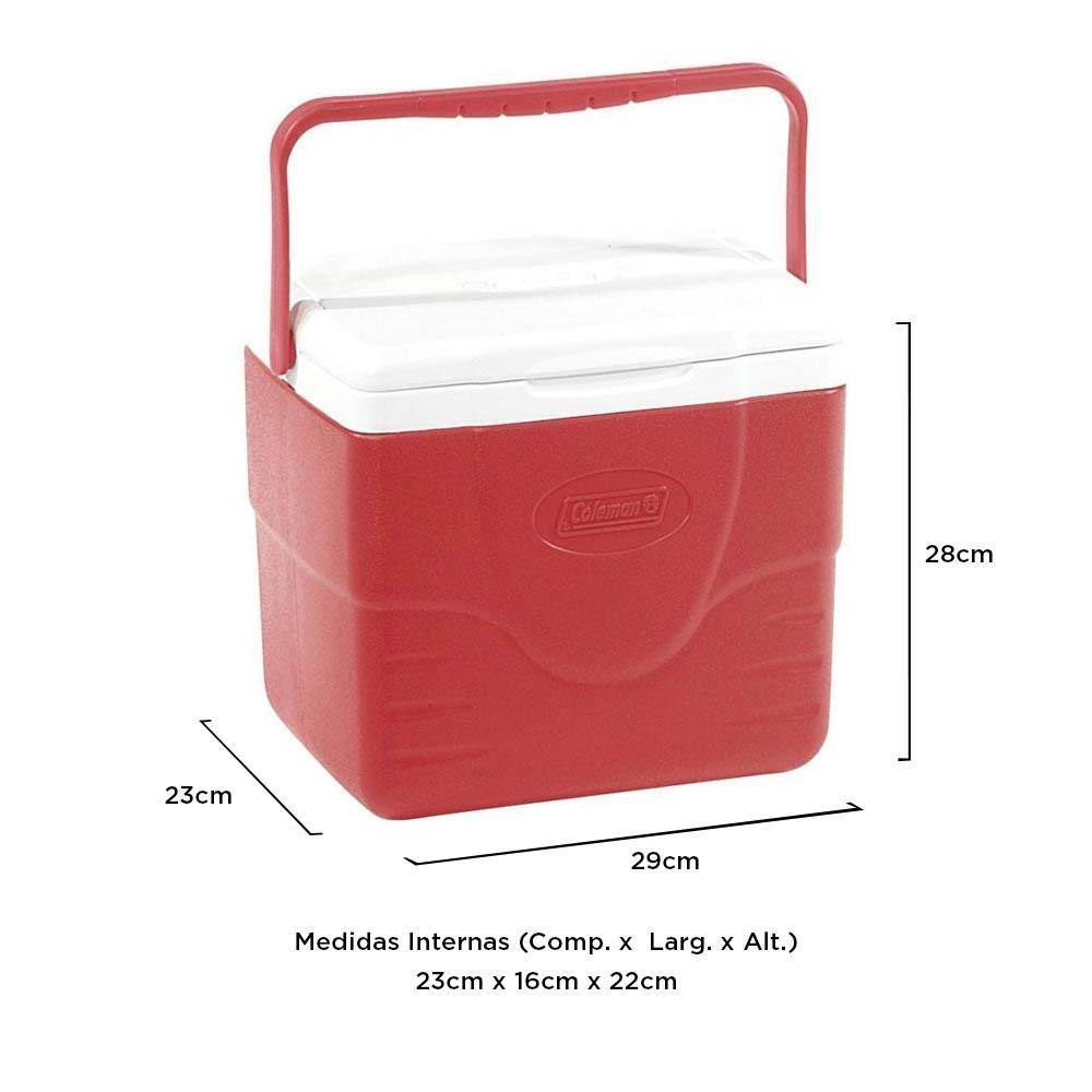 Coleman - Caixa Térmica Vermelha Alça Superior 8,5 Litros