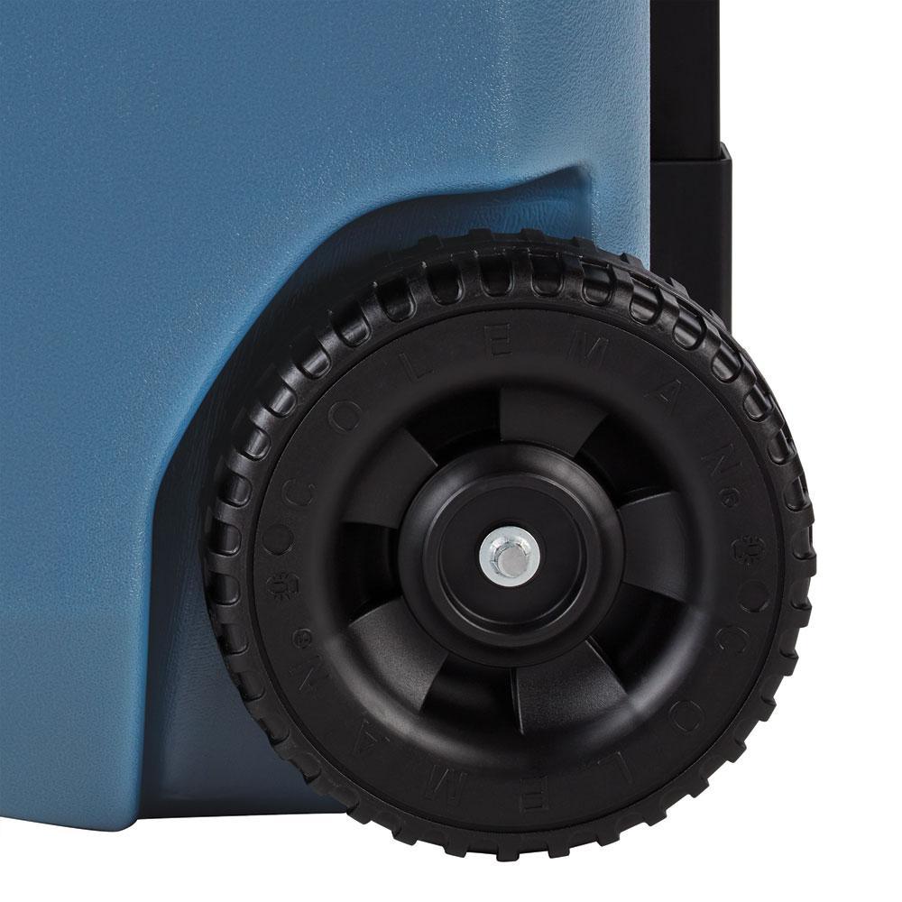 Caixa Térmica Xtreme Azul c/ Rodas e Puxador Retrátil 47 Litros - Coleman