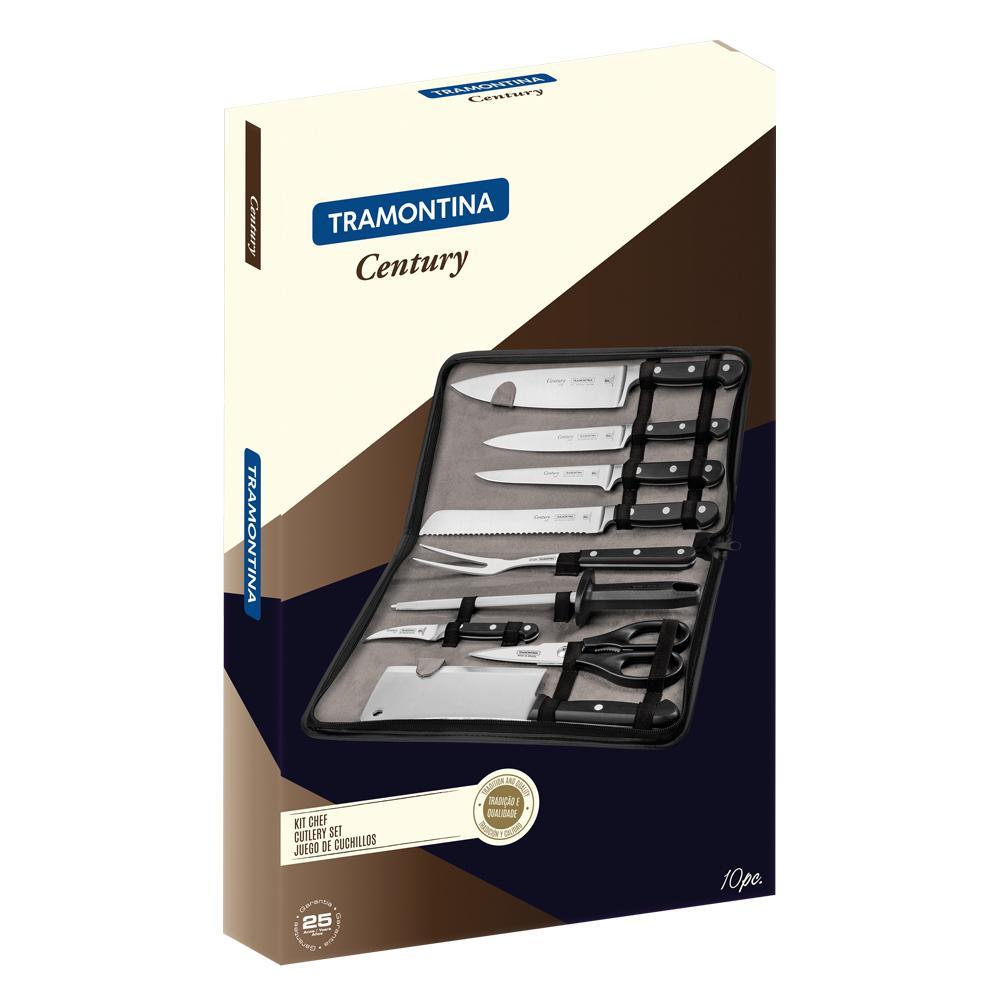 Kit Chef com Estojo 10 Peças Century - Tramontina