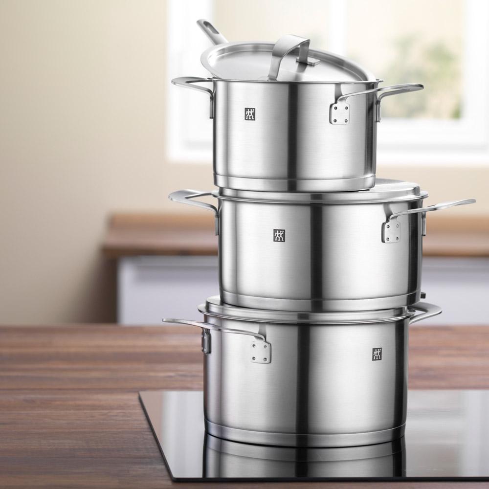 Zwilling Base - Conjunto de Panelas Aço Inox 4 Peças