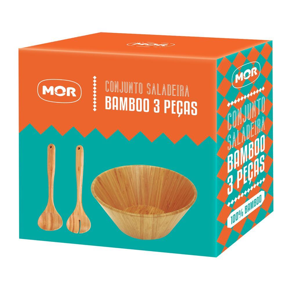 Conjunto Saladeira Bamboo 3 Peças - Mor