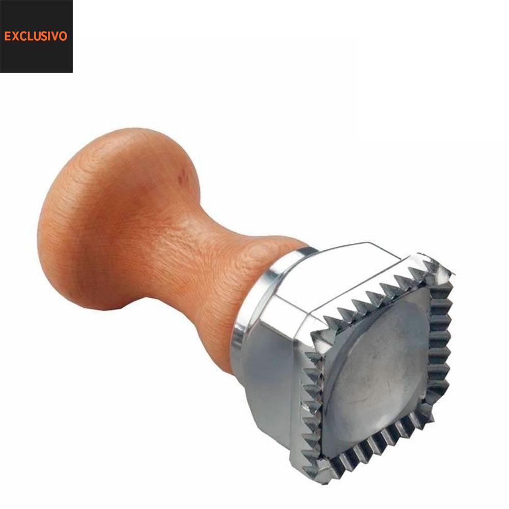 Cortador Ravioli Pressão Alumínio Quadrado 45mm - Eppicotispai