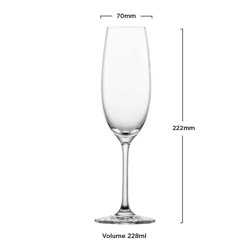 Taça Cristal Cristal (Titânio) Champagne Ivento 228ml - Schott Zwiesel - 1 unidade