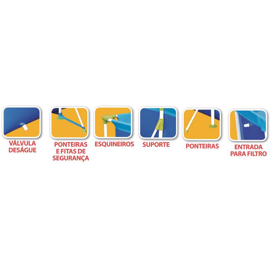 Piscina Desmontável Premium 7.600 Litros - Mor