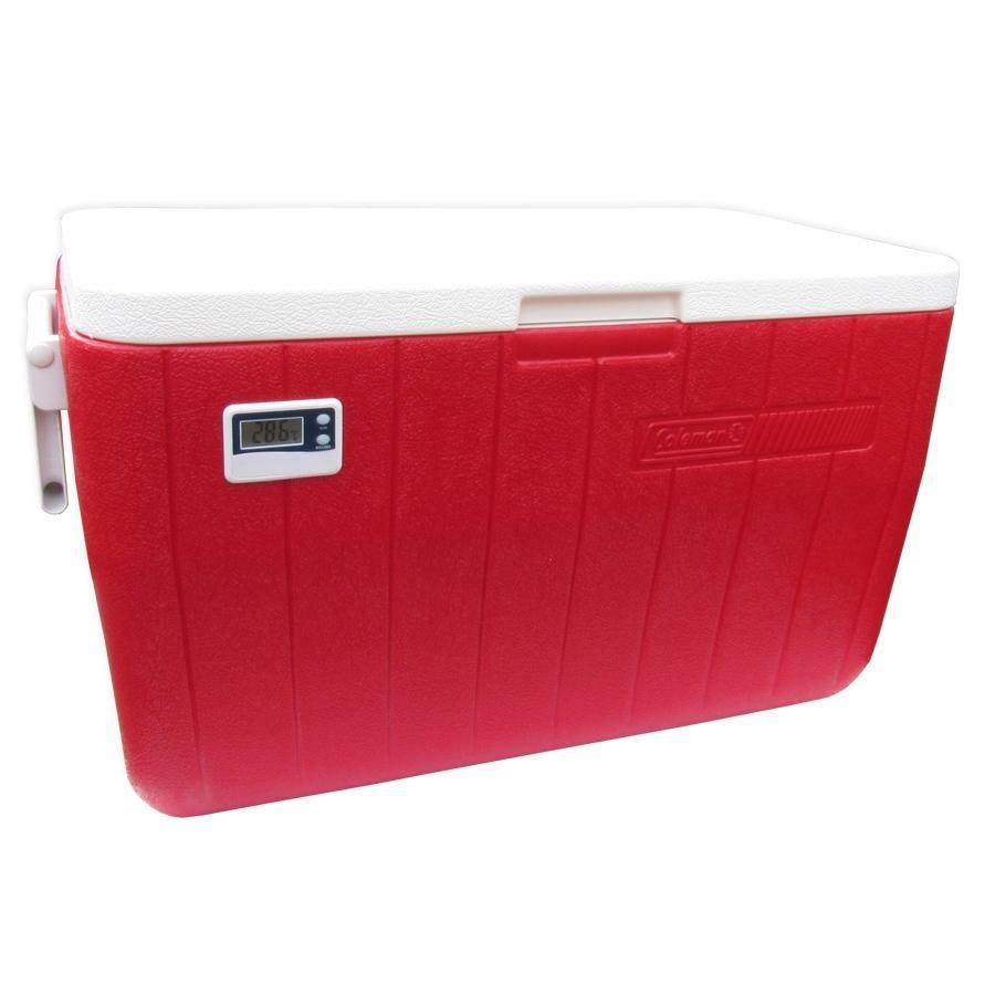 Coleman - Caixa Térmica Vermelha c/ Termômetro Digital 45 Litros
