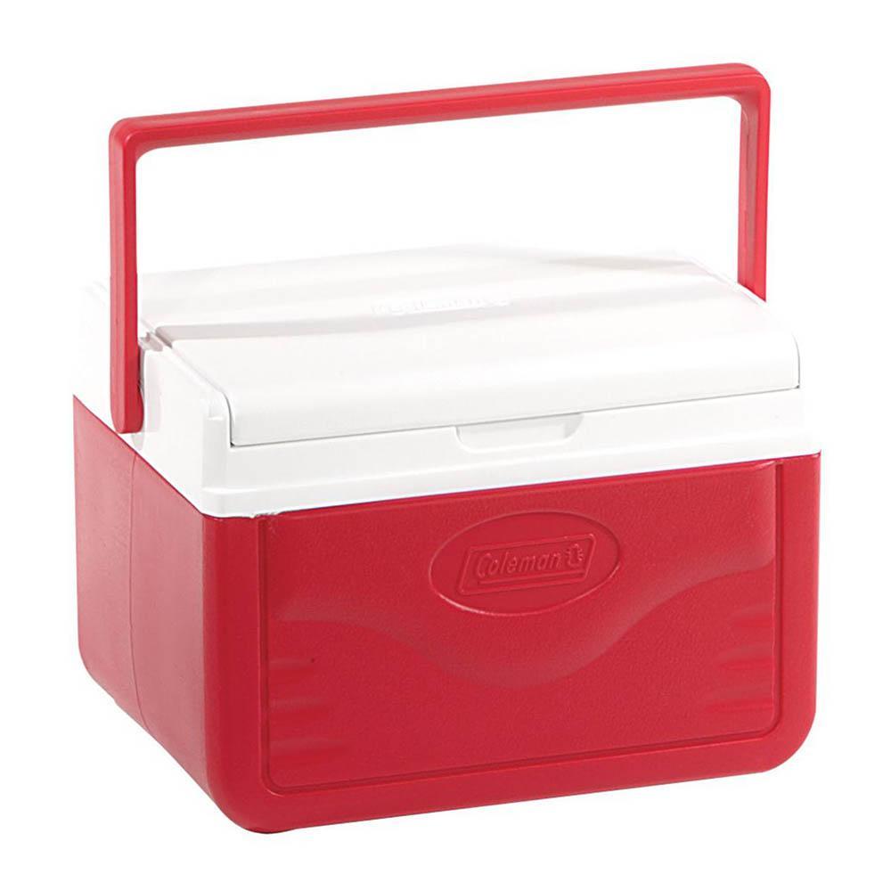 Coleman - Caixa Térmica Vermelha c/ Termômetro Digital Alça Superior 5 Litros