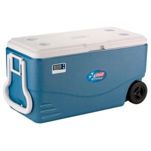 Caixa Térmica Azul c/ Termômetro Digital e Rodas Xtreme 95 Litros - Coleman