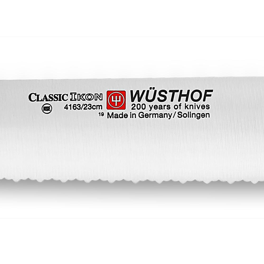 "Faca Pão Serra Dupla Classic Ikon 9"" 4163/23 - Wüsthof"