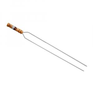 Espeto Duplo Cromado Linha Prata 85 cm (lâmina 70 cm) - Grilazer
