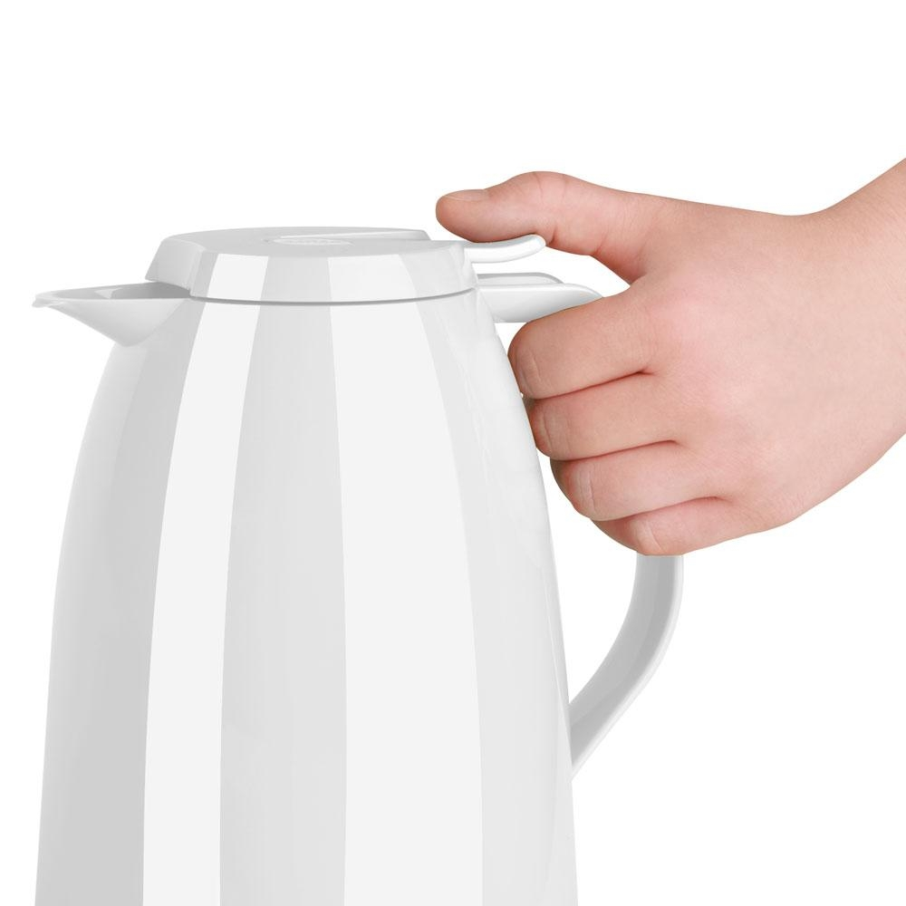 Emsa - Garrafa Térmica Branca Mambo Gloss Quick Tip 1L