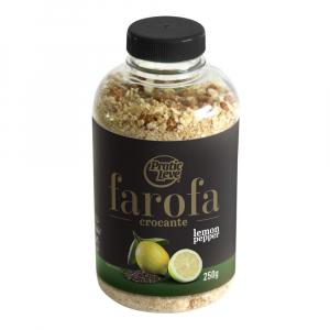 Farofa da Garrafa Crocante Lemon Pepper Garrafa 250 g - Pratic Leve
