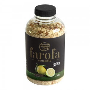 Farofa Crocante Lemon Pepper Garrafa 250 g - Pratic Leve