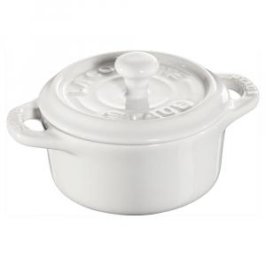 Staub França - Cacarola Redonda (Mini) Branco Cerâmica Ø10 cm
