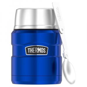 Frasco Térmico p/ Alimento Everest Azul c/ Colher 470ml - Thermos