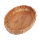 Gamela Oval Bamboo para Churrasco 33 x 23 cm - Mor