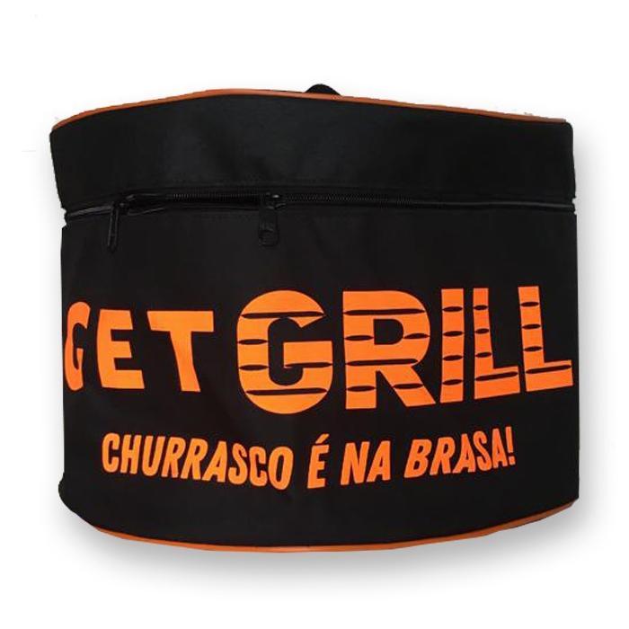 Churrasqueira Vermelha Portátil Carvão com Bolsa para Transporte - Get Grill