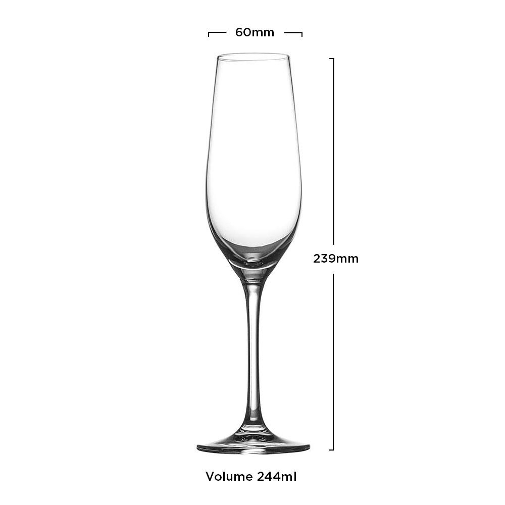 Hausmann by Zwiesel - Kit 6X Taças Cristal (Titânio) Champagne Phoenix 244ml