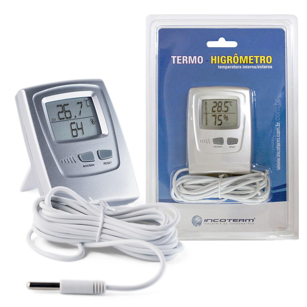 Termo-Higrômetro Digital Temperatura e Umidade - Incoterm