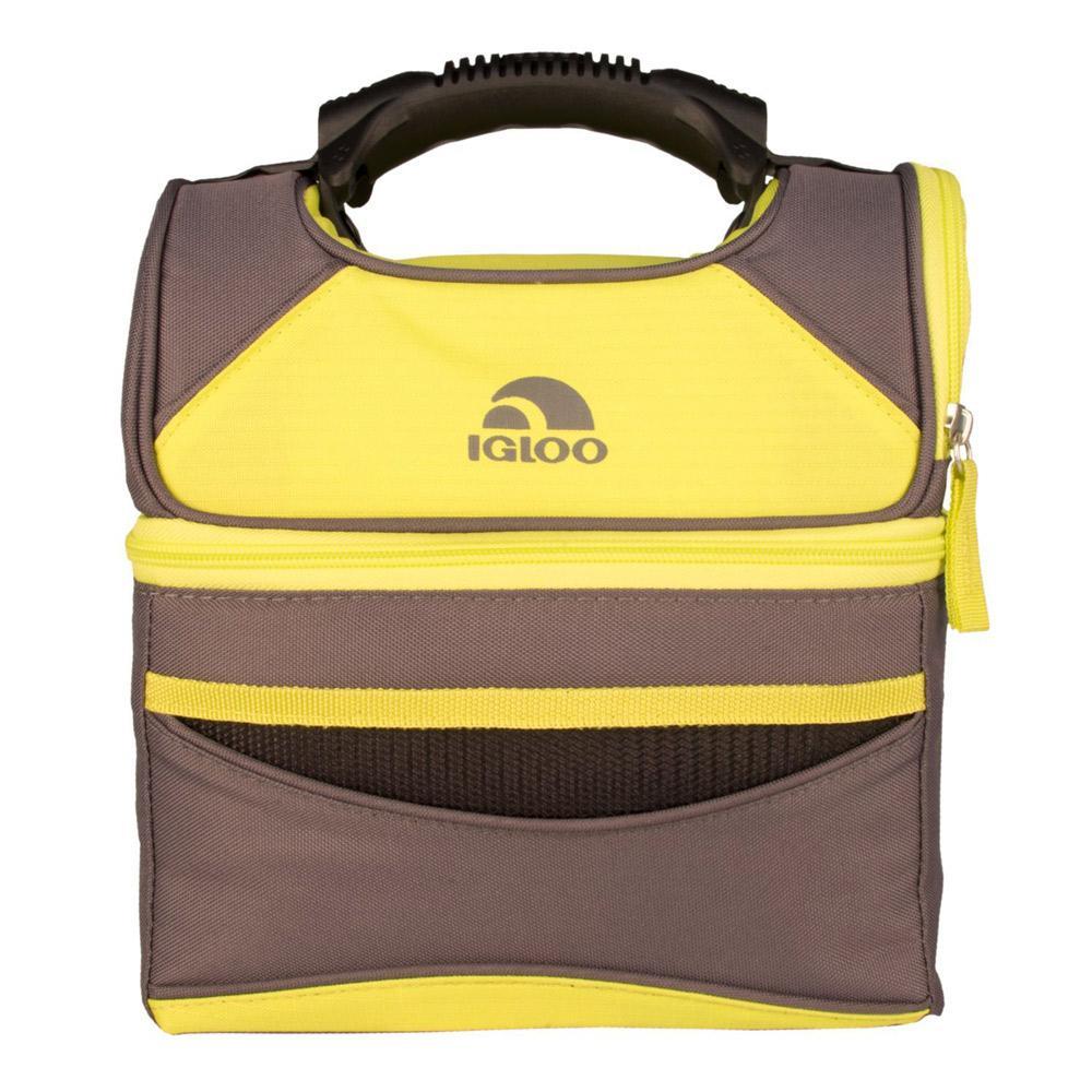 Bolsa Térmica Compartimento Duplo 6 Litros Amarelo e Cinza - Igloo
