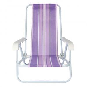 Cadeira de Praia Infantil Aço 4 Posições - Mor