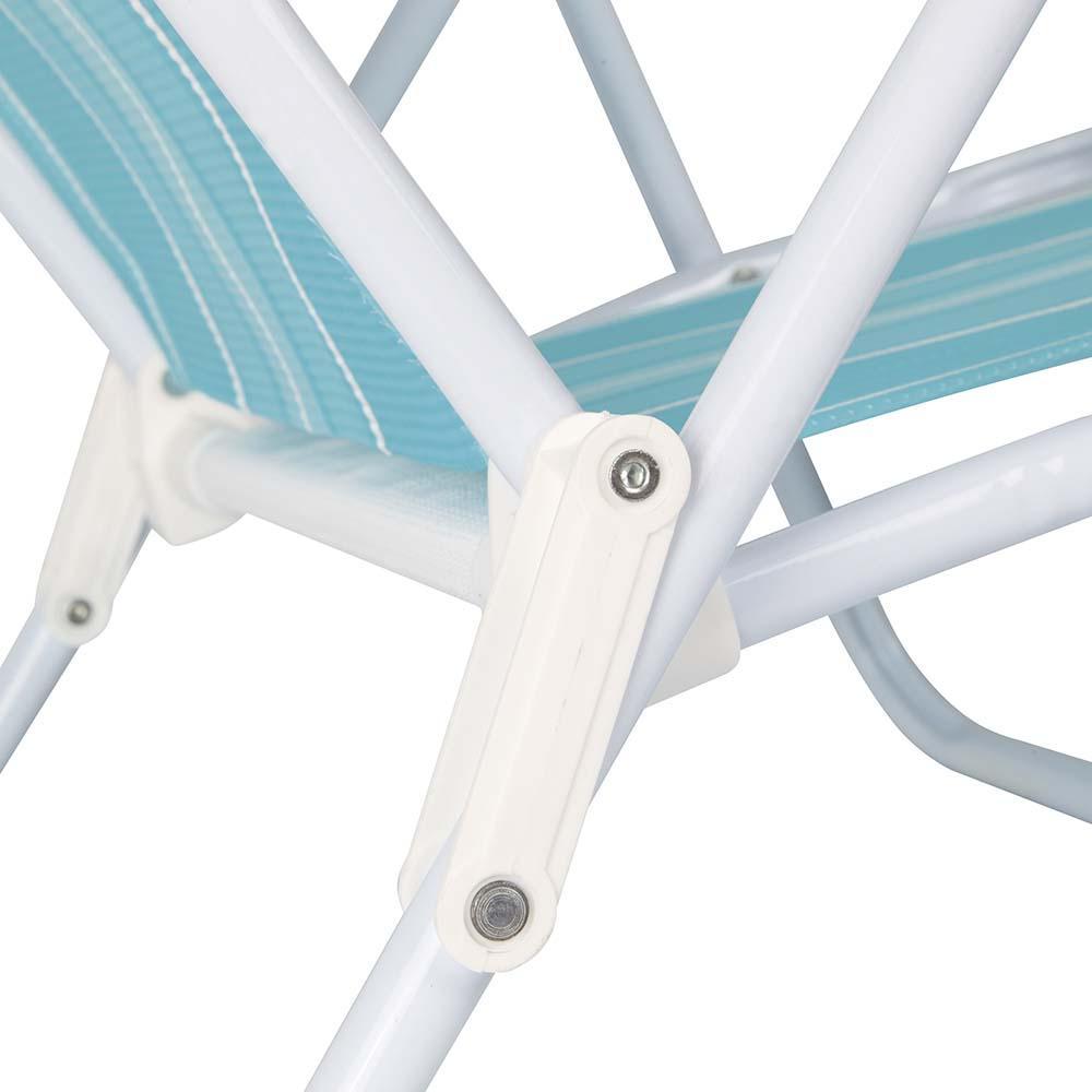Cadeira de Praia Infantil Aço 4 Posições Turquesa - Mor