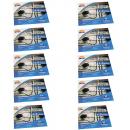 Kit 10X Protetor Fogão 4 e 6 Bocas Alumínio (120 folhas) - Wyda