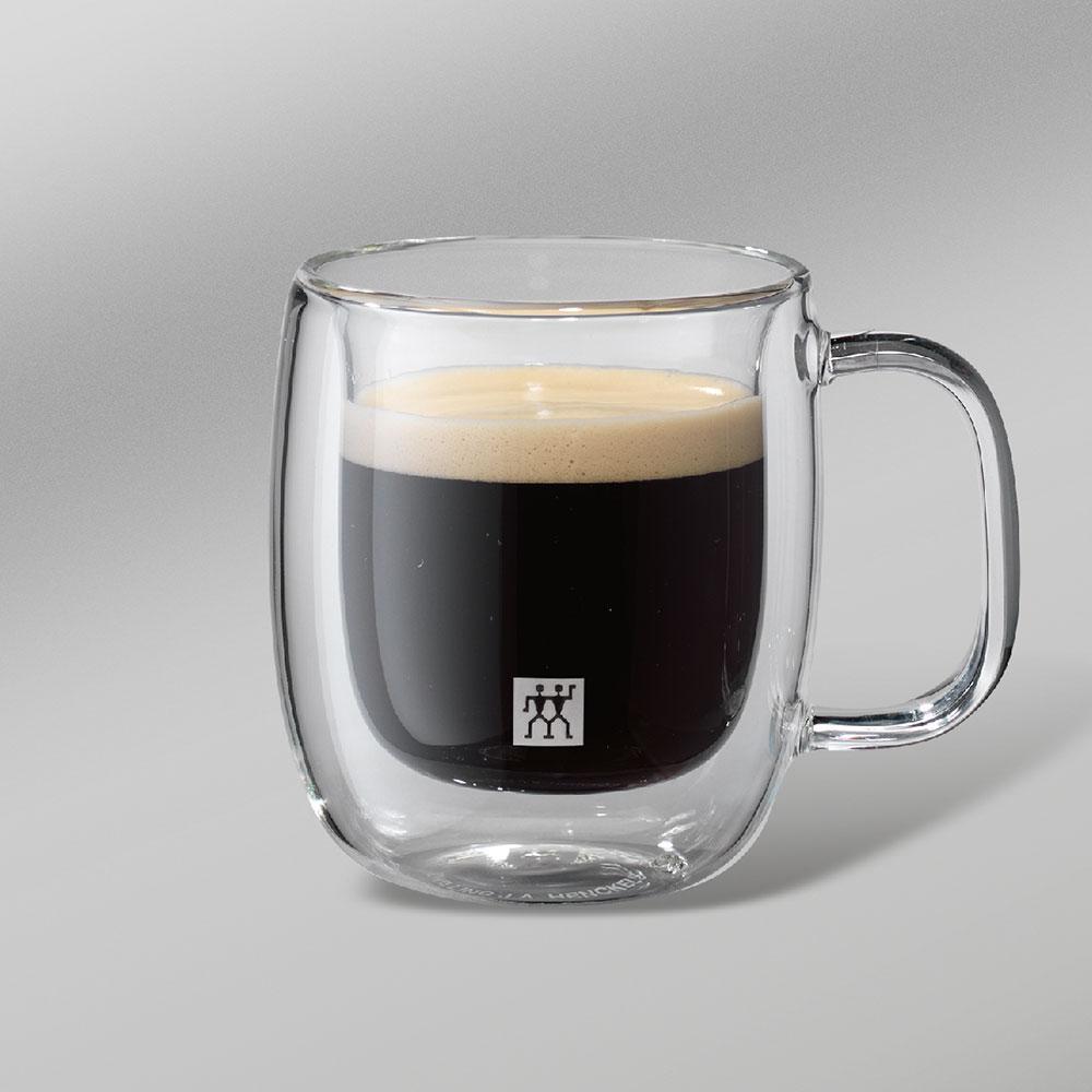 Kit 2X Canecas c/ Alça Vidro Parede Dupla Espresso Sorrento 80ml - Zwilling