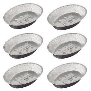 Kit 6X Assadeira Oval Alumínio Média 38 x 27 - Wyda