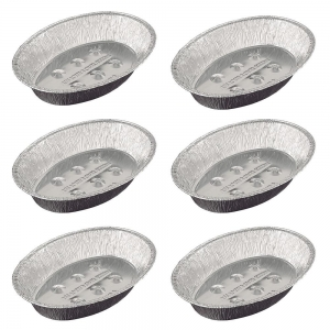 Kit 6X Assadeiras Oval Alumínio Média 38 x 27 cm - Wyda