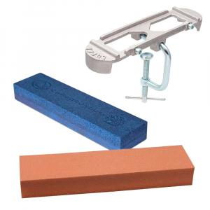 Kit Afiação de Facas (2X Pedras + Suporte) - Carborundum