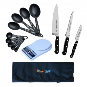 Kit Básico para Estudante Gastronomia 7 Peças - LazerShop
